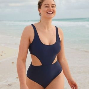 Navy Aerie cutout one piece